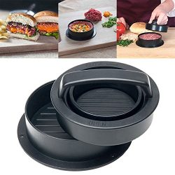 SPWIS Non Stick Burger Press Patty Maker-Easy to Use,Unique 3 in 1 Stuffed Hamburger Maker,for S ...