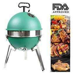 Mangotree Charcoal Grill Portable BBQ Removable Barbecue Lightweight Barbecue with Stainless Ste ...