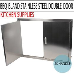 MOPHOTO BBQ Access Door – Double Wall BBQ Access Door Cutout 31″ Width x 24″ H ...