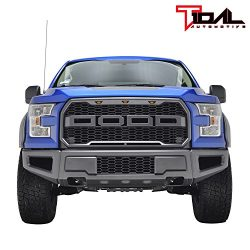 Tidal 2015-2017 Ford F150 F-150 Raptor Style Grille w/LED Amber Lighting – Charcoal Gray & ...
