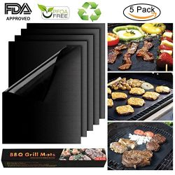 BBQ Grill Mat Non-Stick Baking Cooking Mats BBQ Barbecue Accessories for Gas Charcoal Electric G ...