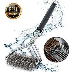 Grill Brush And Scraper Grill Brush Bristle Free – Grill Brsh Outdoor Stainless Steel Gril ...