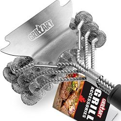 GRILLART Grill Brush Bristle Free – Safe BBQ Cleaning Grill Brush and Scraper – 18&# ...