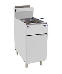 CookRite ATFS-40 Commercial Deep Fryer With Baskets 3 Tube Stainless Steel Natural Gas Floor Fry ...