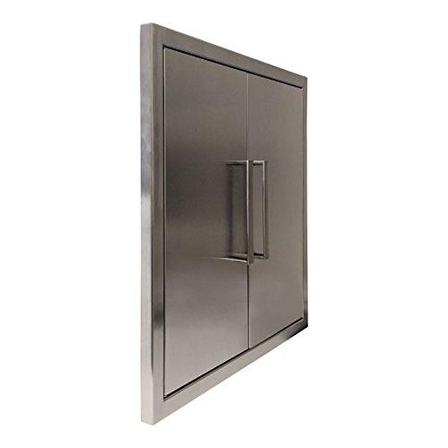 Katzington BBQ ACCESS DOORS – Modern Style – 24″ Double Doors – 304 Grad ...