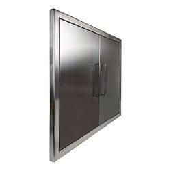 Katzington BBQ ACCESS DOORS – Modern Style – 31″ Double Doors – 304 Grad ...