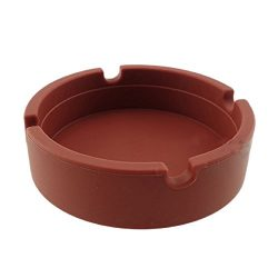 Qingsun Silicone Ashtray for Cigarettes Home Soft Rubber Heat Resistant Round Ash Tray Outdoor f ...