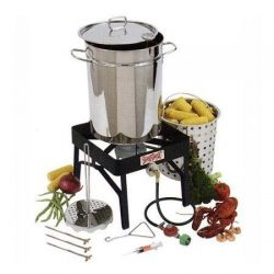 Bayou Classic Stainless Steel Outdoor Turkey Fryer Kit – 32 qt.