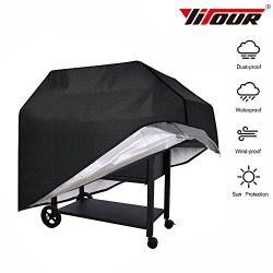 Yitour Portable Waterproof BBQ Grill Cover Heavy-Duty 600d Patio Outdoor Black Electric Metal Ch ...