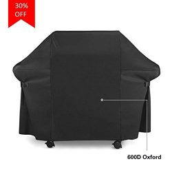 MEWAY BBQ Gas Grill Cover 600D Oxford Heavy Duty Waterproof Weather Resistant Outdoor Grill Cove ...