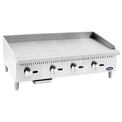 CookRite Heavy Duty Manual Commercial Griddle Natural Gas 48″ Countertop