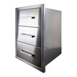 Katzington BBQ ISLAND DRAWERS – Modern Style – 26″ Triple Drawers – 304  ...