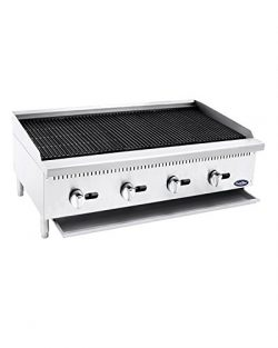 CookRite Stainless Lava Rock Charbroiler Grill Char-Rock Broiler Natural Gas