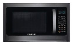 Farberware Black FMO12AHTBSG 1.2-Cubic-Foot 1100-Watt Microwave Oven with Grill Function, Black  ...