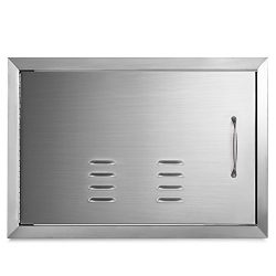 Happybuy BBQ Access door 20 x 27 Inch Horizontal Island Door with Vents Stainless Steel Single A ...