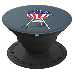 USA Charcoal Kettle Grill Art | July 4th Grill Gift – PopSockets Grip and Stand for Phones ...