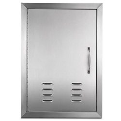 Mophorn BBQ Access door 17 x 24 Inch Vertical Island Door with Vents Stainless Steel Single Acce ...
