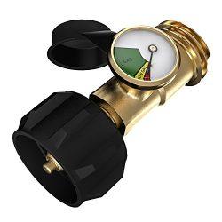 SHINESTAR Propane Tank Gauge Indicator Leak Detector Gas Pressure Meter Universal for Gas Grill, ...