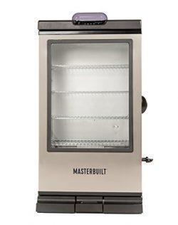 Masterbuilt MB20076718 Bluetooth Electric Smoker 240G Digital, Black with SS Door