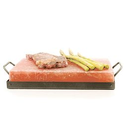 Himalayan Chef Pink Salt Cooking Plate 8″ x 12″ x 2″ Block Cooking Salt Plate  ...