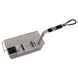 R & V Works Replacement Black Handle Basket for Cooking with Cajun Fryer