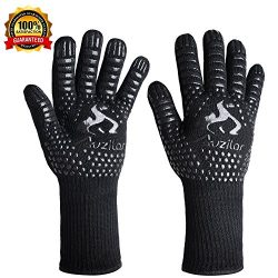 Auzilar BBQ Grill Gloves, 1472°F Extreme Heat Resistant Cooking Gloves, Oven Mitts, Barbecue Glo ...