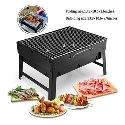 MorisMos Portable Barbecue Grill,Charcoal Small Folding BBQ Grill,Grill mats,Grill Baskets,BBQ G ...