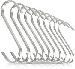 Pro Chef Kitchen Tools Flat Hanging Hooks – Pot Racks S Hook 10 Pack Set – Hang Disp ...