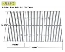 Hongso SCH763 Stainless Steel Wire Cooking Grid Replacement for Select Gas Grill Models by Charb ...