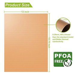 LJEX Copper Grill Mat Set of 5 – Non-Stick BBQ Grill&Baking Mat for Gas, Charcoal, Ele ...