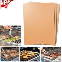 New Fashion Bake Mat Kitchen Copper Chef Grill Outdoor BBQ Tools (Brown 3pack)