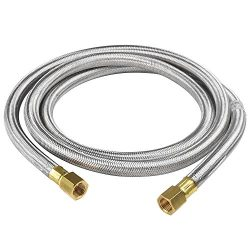SHINESTAR 6 Feet Propane Hose Assembly- 3/8″ Female Flare x 3/8″ Female Flare for RV ...
