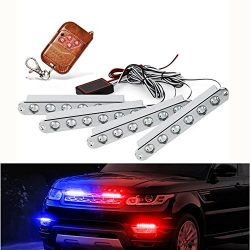 Dealpeak 4×6 LED 12V 5.2″ Car Emergency Lights Vehicle Strobe Lights Truck Under Glow ...