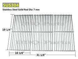Hongso SCI1S3 BBQ Stainless Steel Wire Cooking Grid Replacement for Select Gas Grill Models by B ...