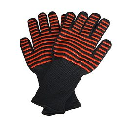 Extreme Heat Resistant Grill Gloves for Cooking,BBQ,Grilling,Frying,Baking,grilling and oven 1 Pair