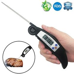 Digital Meat Thermometer Cooking Instant Read Thermometer Food with Super Long Probe For Liquid  ...