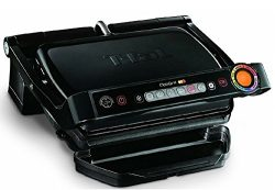 T-fal GC702853 OptiGrill Indoor Electric Grill with Removable and Dishwasher Safe Plates, 1800W, ...