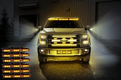 Zone Tech Amber 54x LED Emergency Service Vehicle Deck Grill Warning Light – 1 set