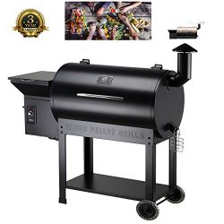 Z GRILLS Wood Pellet Grill & Smoker 700sq in 6-1 bbq grill with Electric Digital Controls fo ...