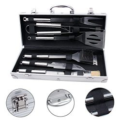 edealing BBQ Tools Set, 6-Piece Barbecue Grill Tools Kit, Heavy Duty Grilling Utensils, Premium  ...