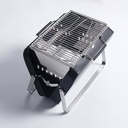Sougem Portable Foldable Charcoal Grill Stainless Steel For Outdoor Barbecue Cooking Picnics Tai ...