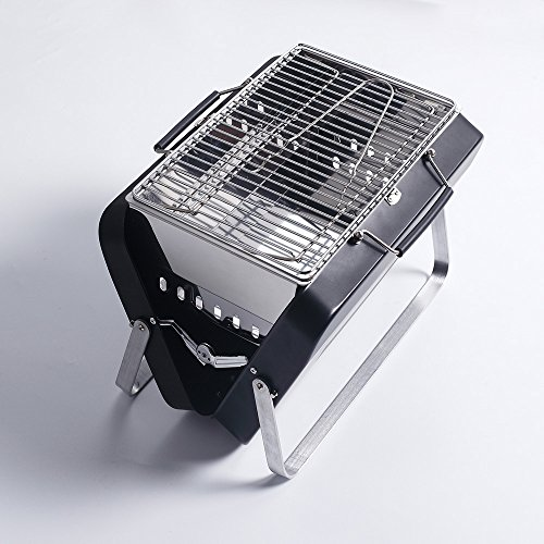 Sougem Portable Foldable Charcoal Grill Stainless Steel