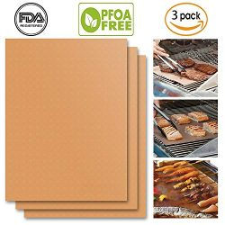 UCHO Copper Grill Mat(Set of 3)15.75×13"