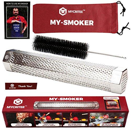 Mycritee Hexagonal Pellet Smoker Tube 12″ | Premium Stainless Steel Smoke Generator for Ho ...
