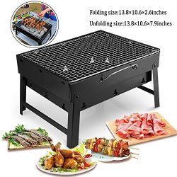 MorisMos Folding BBQ Grill Lightweight Portable Barbecue Charcoal Grill Tools for Outdoor Campin ...