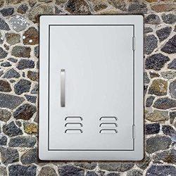 Outdoor Kitchen Door BBQ Access Door with Vents 14 inch Width x 20 inch Height – Stainless ...