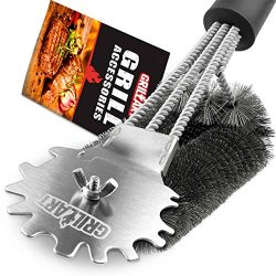 Grill Brush and Scraper Universal Fit – Adjustable BBQ Grill Accessories Cleaning Kit &#82 ...