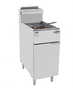 Atosa USA ATFS-40 (High BTU 102k) Heavy Duty 40 lbs Stainless Steel Deep Fryer – Natrual Gas
