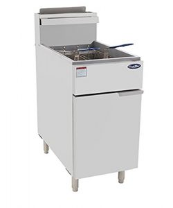 CookRite ATFS-50 Commercial Deep Fryer With Baskets 4 Tube Stainless Steel Liquid Propane Floor  ...