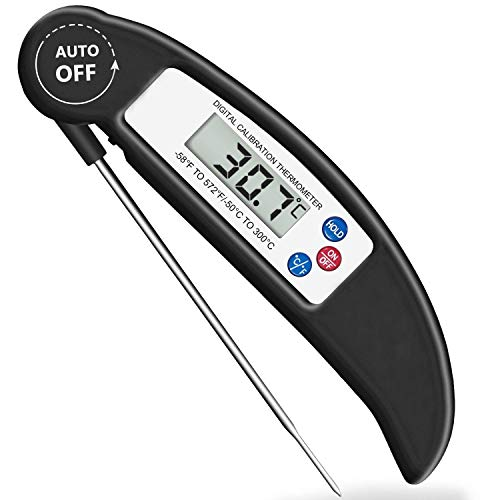 Bluephoto Digital Meat Thermometer with Magnet, Instant Read Food Thermometer for Kitchen, Outdo ...